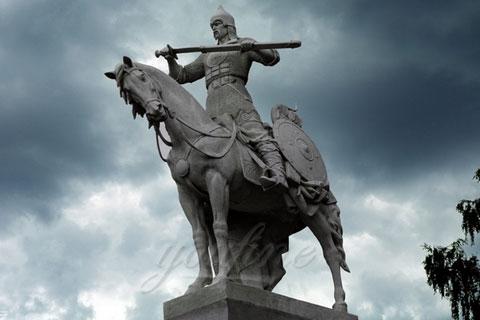 Бронзовая статуэтка солдатов с лошадьми ручная работа в искусстве на улице