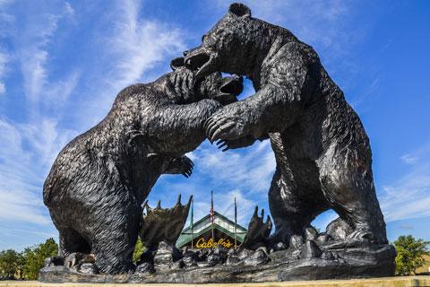 Героическая Статуэтка из бронзы бой медведей из бронзы в искусстве для декорации