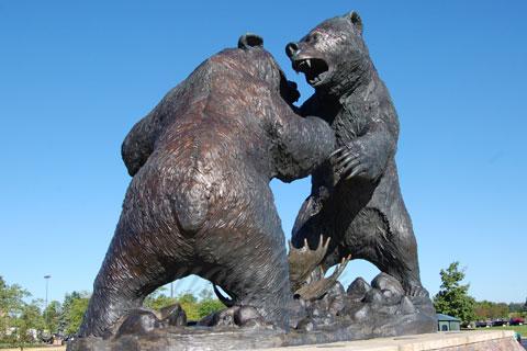 Героическая Статуэтка из бронзы бой медведей меди в искусстве для декорации