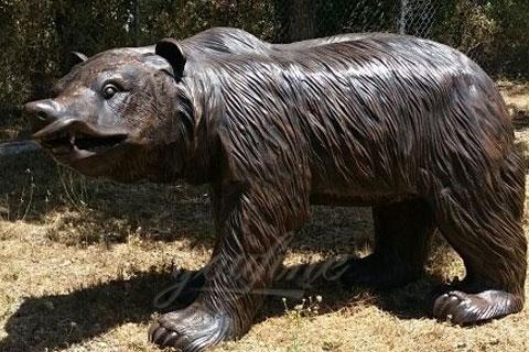 Героическая скульптура ревущего медведя из меди в искусстве для продажи