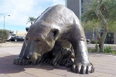 Героическая скульптура спящего медведяиз меди в искусстве для продажи