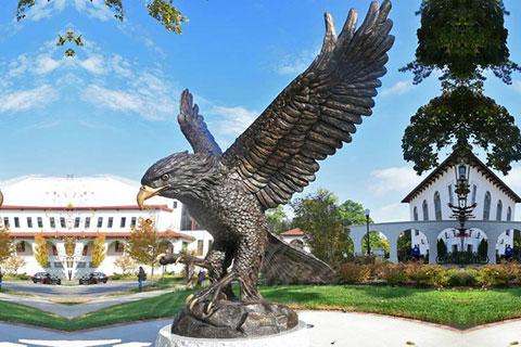 Декоративная статуэтка орла в искусстве из бронзы в школе искусств