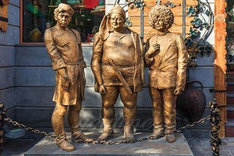 Заказать бронзовую статуэтку людей ручная работа на улице в искусстве
