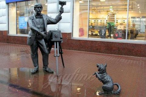 Индийская Самая необычная скульптура известных людей с собакой ручная работа в искусстве