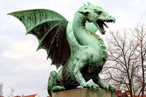 Индийская скульптура дракона из бронзы ручная работа