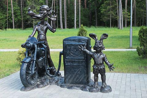 Индийская скульптура заяца и собаки из бронзы ручная работа