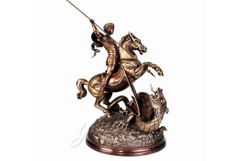 Красивые скульптуры Солдата с лошадью из бронзы на постаменте для дома в искусстве для дома