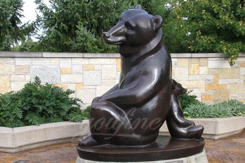 Счастливая статуэтка медведици с медвежонком из бронзы в искусстве для декорации