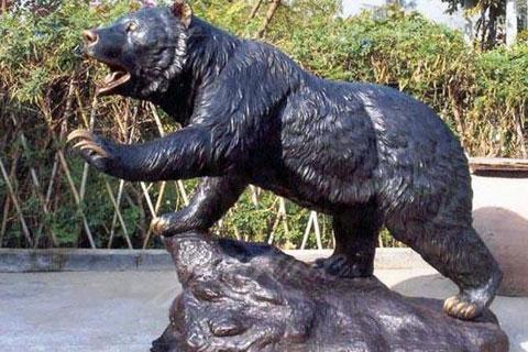 Храбрая скульптура Медведя из меди в искусстве для продажи