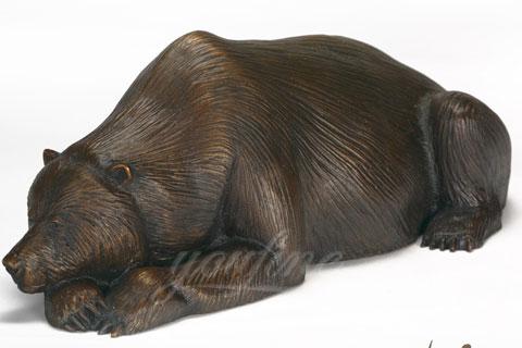 Храбрая скульптура Спящего медведя из меди в искусстве для продажи