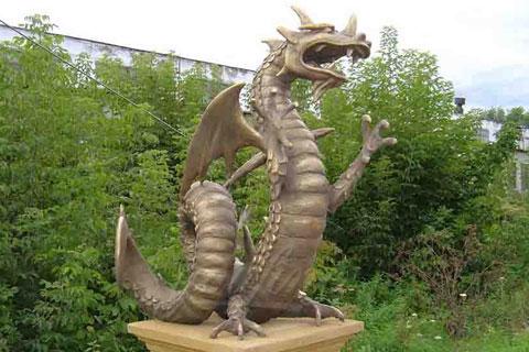 Эксклюзивная скульптура дракона из бронзы известных людей искусство