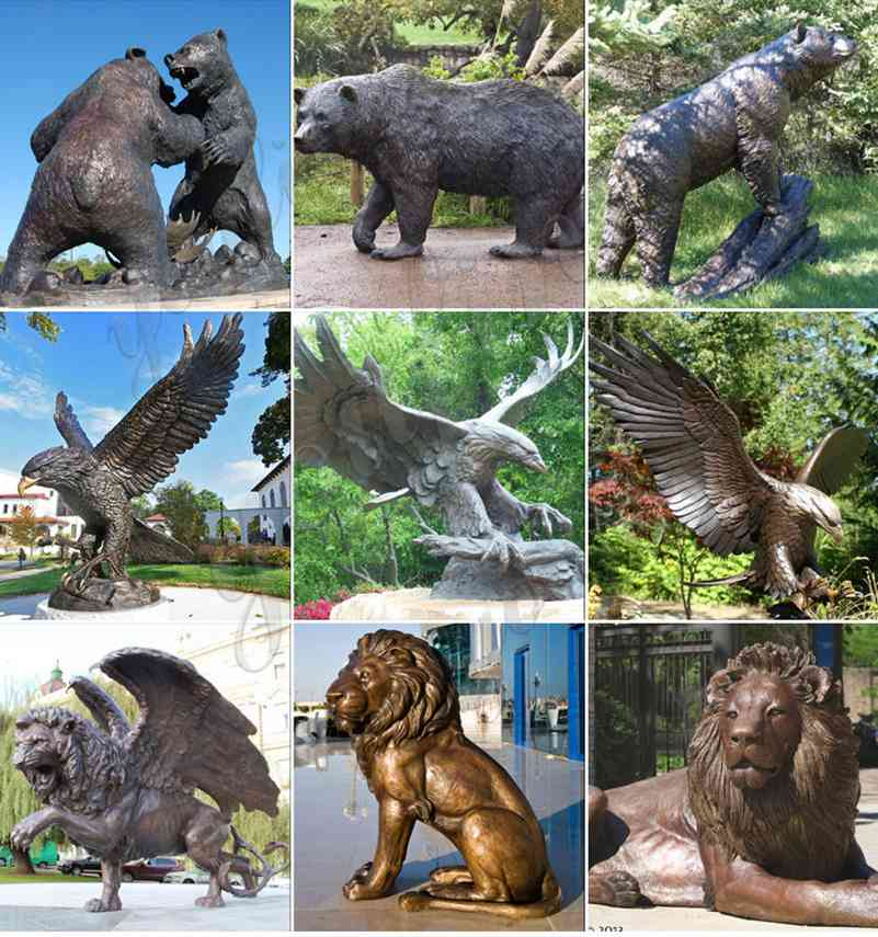 бронзовая статуя животного