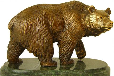 интересная статуэтка из бронзы медведь как вид искусства