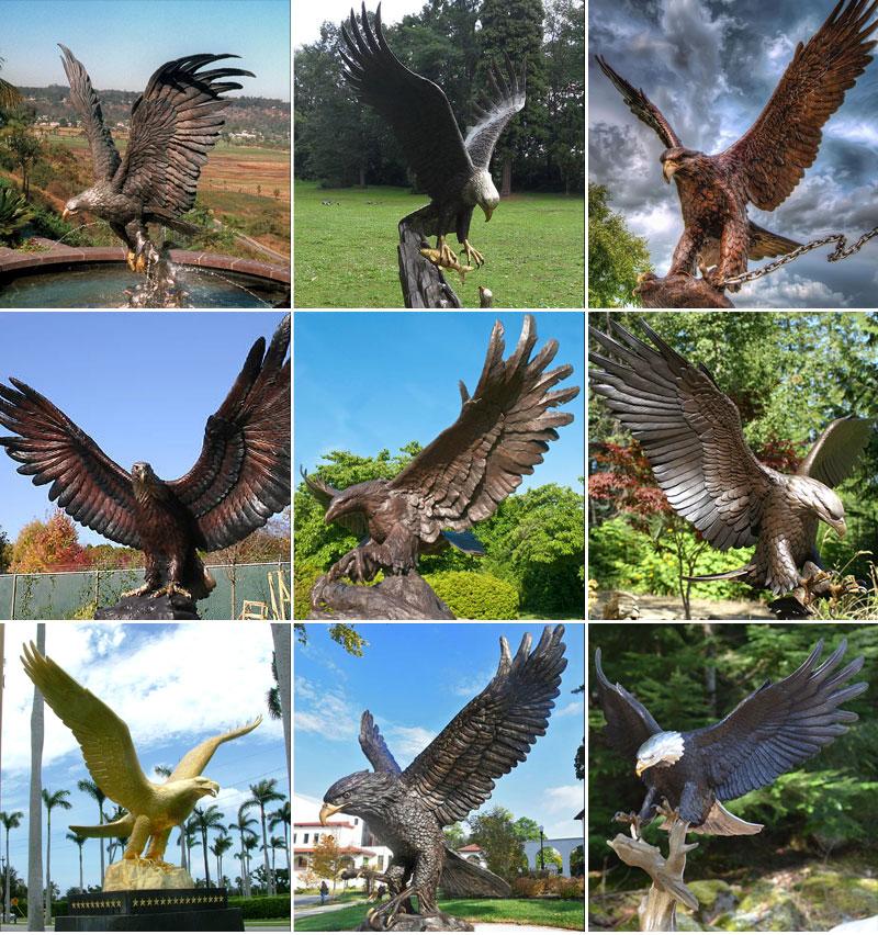 скульптура орела из бронзы