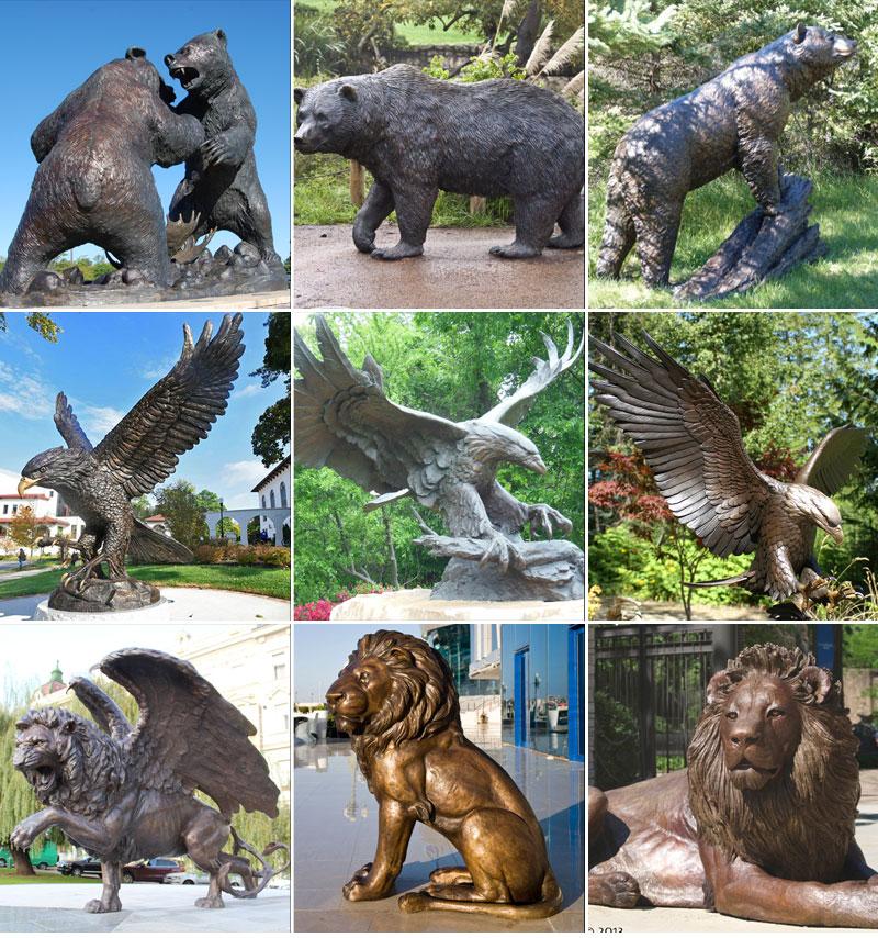 Романская скульптура Три Медведя из бронзы в искусстве