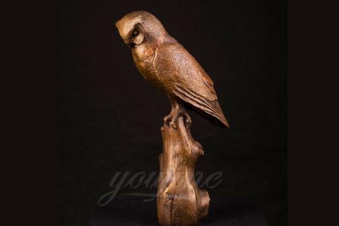 Заказать скульптуру совы из бронзы в скульптуре для декора
