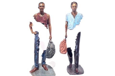 Известные Опустошенные скульптуры из бронзы для декора