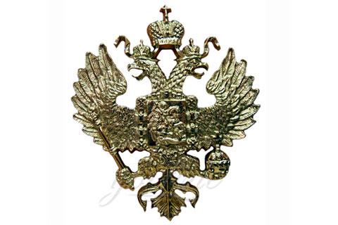 Красивые скульптура государственного герба из бронзы в искусстве