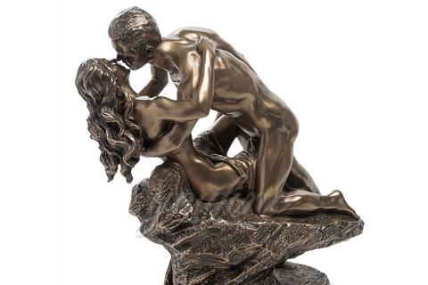 Купить подарок статуэтки мужчины с женщиной из бронзы для дома