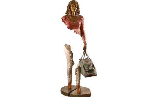 Садовая скульптура призраки из бронзы