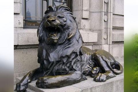 Садовые скульптуры львы из бронзы из китая