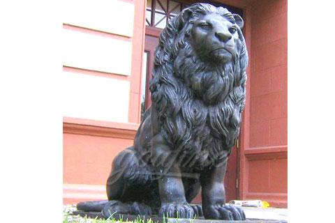 Скульптура лев сидит на улице для продажи