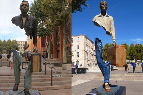 Скульптура путешественник для декора