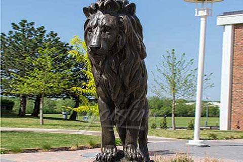 Уличные бронзовые идущие львы для декора
