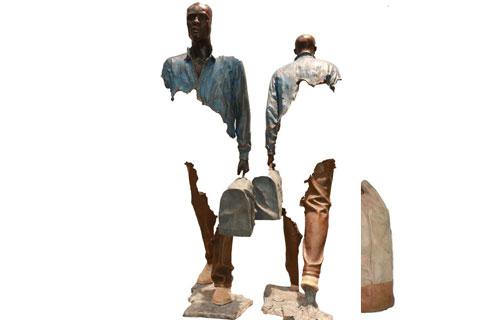Французская скульптура путешественники на улице