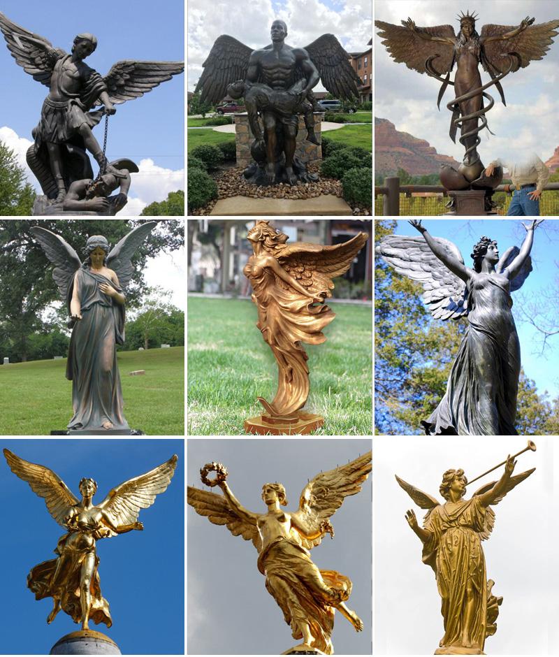 скульптура ангел из бронзы