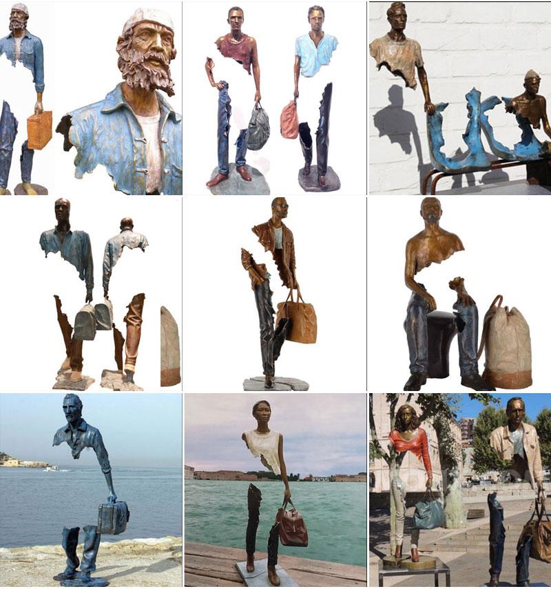 скульптура путешественник