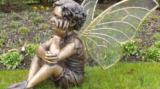 Ручная работа красивая бронзовая статуэтка маленького ангела в продаже