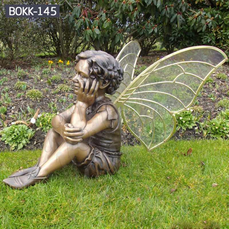 Ручная работа красивая бронзовая статуэтка маленького ангела в продаже BOKK-145