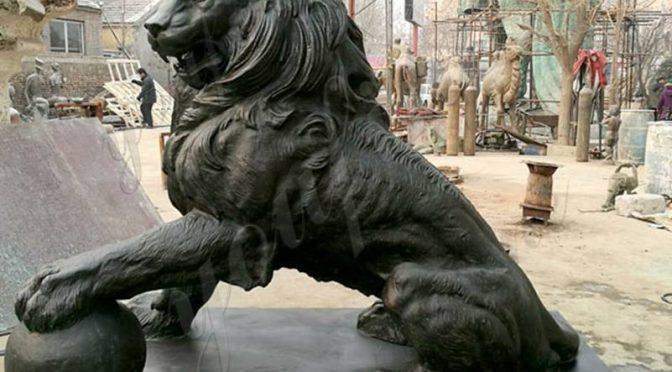 Лев скульптура царь зверей бронз покупать