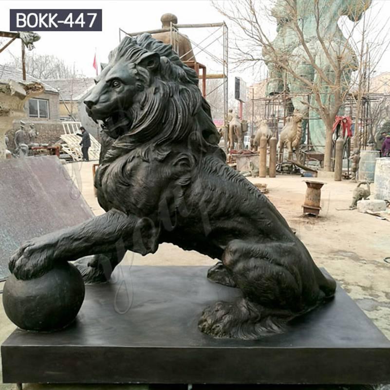 Лев скульптура царь зверей бронз покупать BOKK-447