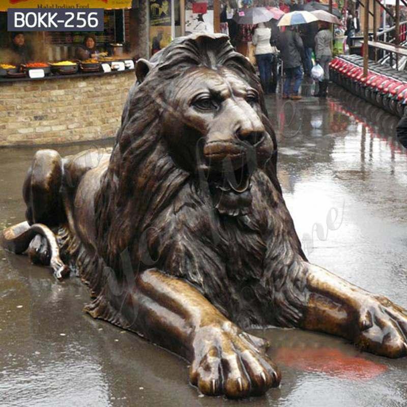 Лев скульптуры животных под бронзу садовые скульптуры BOKK-256