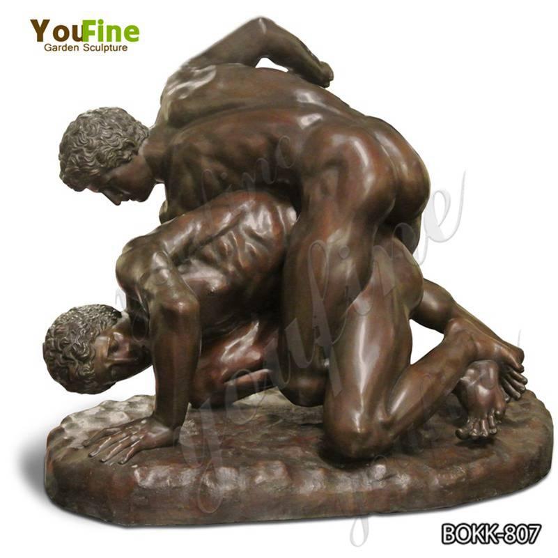 Знаменитая бронзовая статуя борцов греко-римского стиля для продажи BOKK-807