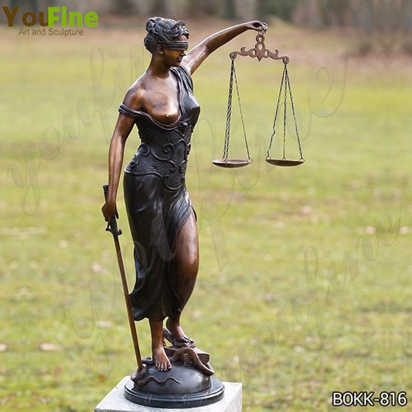скульптура фемиды бронзав натуральную величину BOK-816