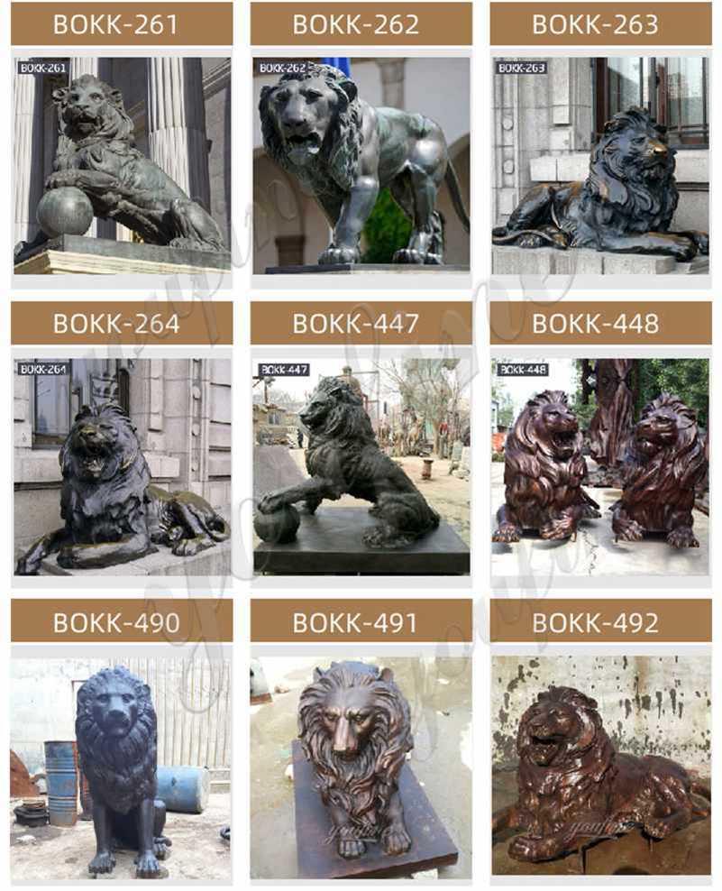 статуи львов перед крыльцом