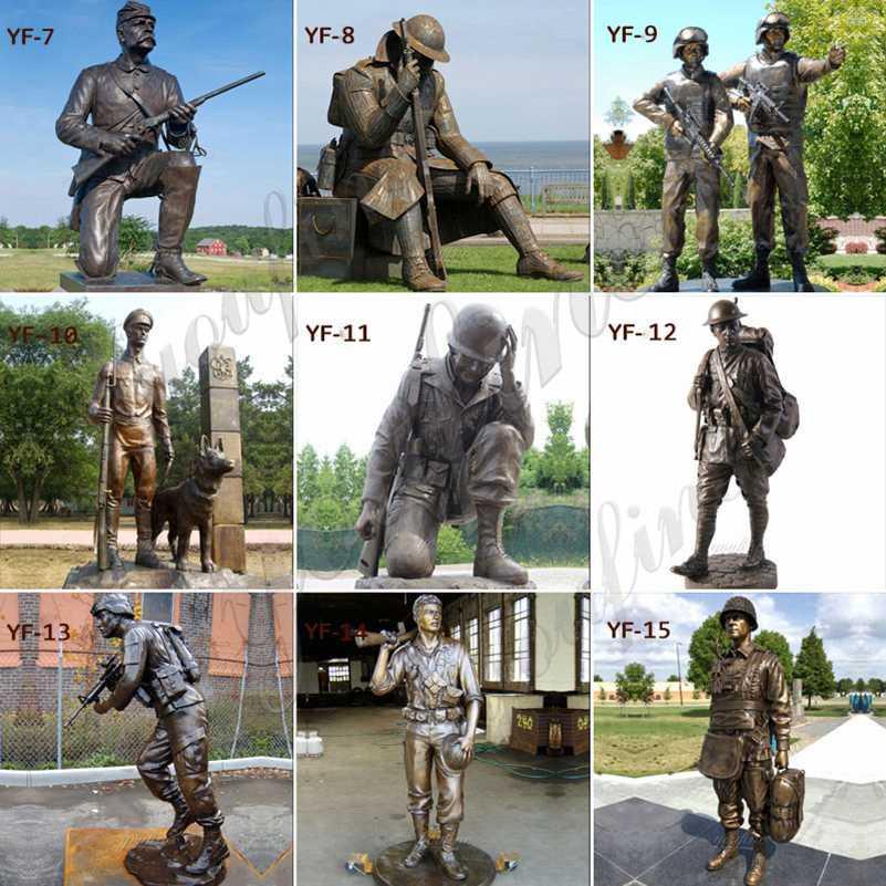 Дешевая Цена Мемориал Коленопреклоненная Бронзовая Статуя Солдата