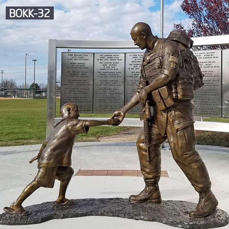 Дешевая цена Мемориал сержанта Дэна Брауна бронзовая статуя солдата для продажи BOKK-32