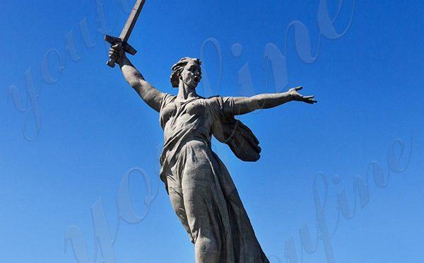 Знаменитая Большая Родина зовет памятник бронзовая статуя реплика для продажи