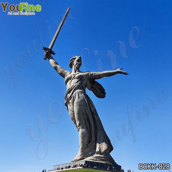 Знаменитая Большая Родина зовет памятник бронзовая статуя реплика для продажи BOKK-828