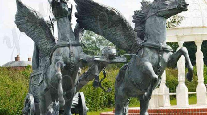 Знаменитый Персей верхом на колеснице с головой Медузы бронзовая скульптура для продажи