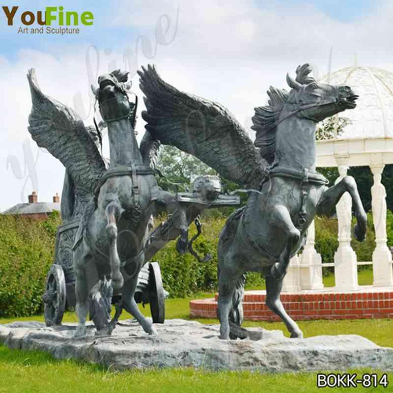 Знаменитый Персей верхом на колеснице с головой Медузы бронзовая скульптура для продажи BOKK-814