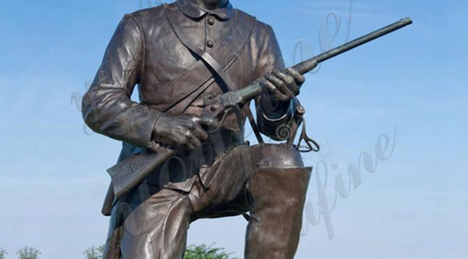 Купить Дешевая Цена Мемориал Коленопреклоненная Бронзовая Статуя Солдата