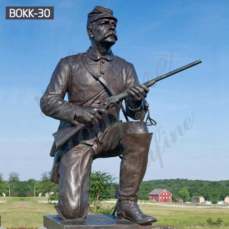Купить Дешевая Цена Мемориал Коленопреклоненная Бронзовая Статуя Солдата BOKK-30