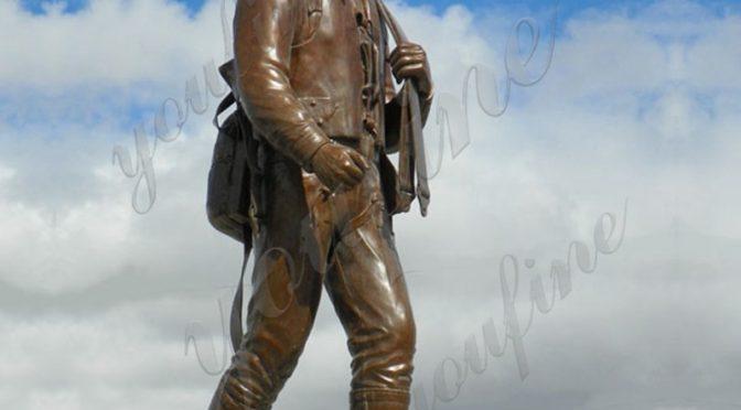 Напольная мемориальная бронзовая военная скульптура в натуральную величину для продажи
