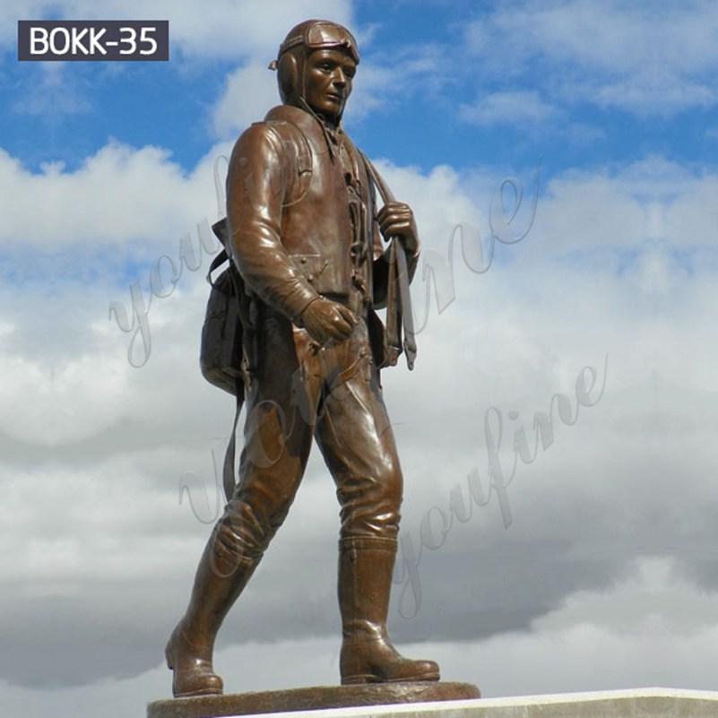 Напольная мемориальная бронзовая военная скульптура в натуральную величину для продажи BOKK-35