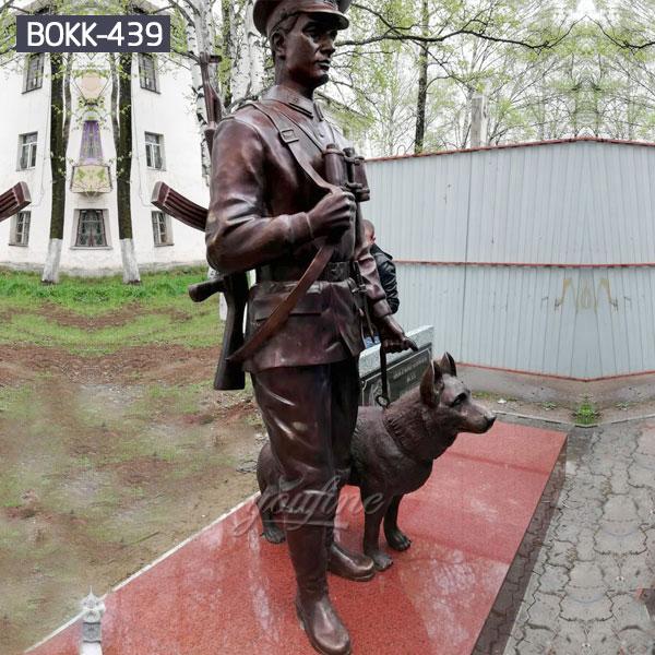 Старинный бронзовый солдат и статуя собаки на продажу BOKK-439
